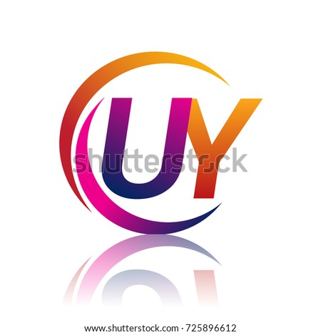 Initial Letter Uy Logotype Company Name Stock Vector 2018