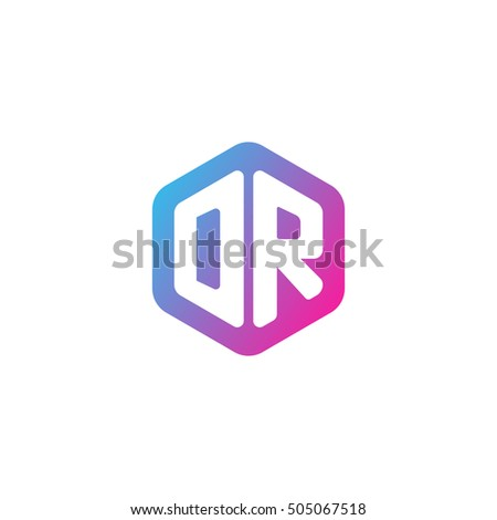 Initial letters dr rounded hexagon shape stock vector 505067518 initial letters dr rounded hexagon shape blue pink purple simple modern logo thecheapjerseys Image collections