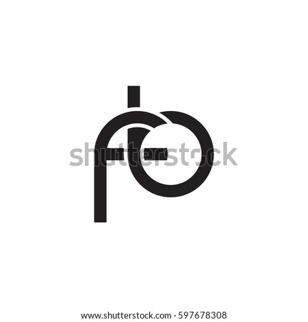 Initial Letters Fb Round Linked Chain Stock Photo Photo Vector