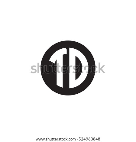 Initial Letters Td Circle Shape Monogram Stock Vector 524963848