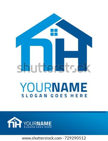 Initial N H Real Estate Logo Stock Vector 729290512 Shutterstock