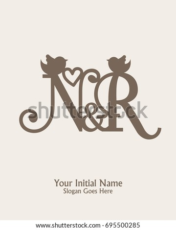 Initial name n r logo template stock vector 695500285 shutterstock initial name n r logo template vector thecheapjerseys Gallery