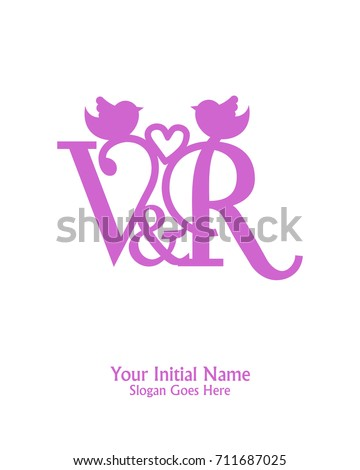 Initial name v r logo template stock vector 711687025 shutterstock initial name v r logo template vector thecheapjerseys Gallery