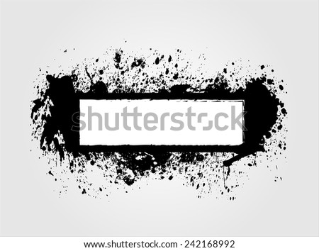 Ink blot banner.Splash vector illustration. - stock vector