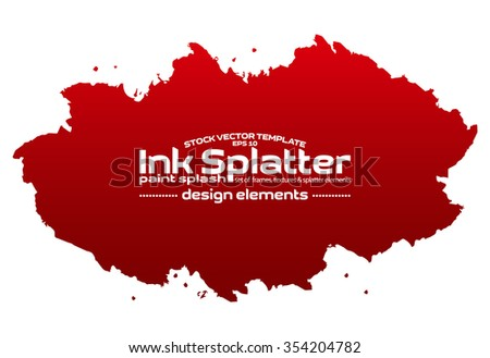 Ink blot splash collection - design template, stock vector - easy to use