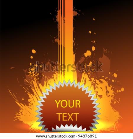 ink fire - stock vector