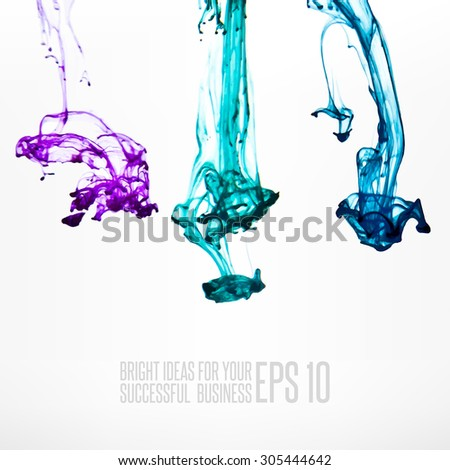 Ink in water abstract background - stock vector