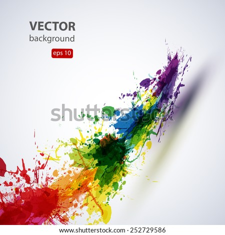 ink paint abstract background, easy editable - stock vector