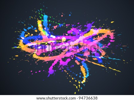 ink splash - stock vector