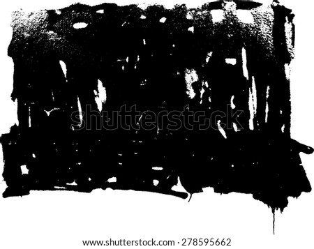 Ink Splash Background . Black Paint Splattered Shape .