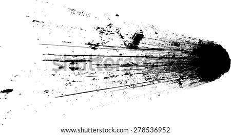 Ink Splash Background . Black Paint Splattered Shape . Grunge Background Texture . Vector Distress Background . Cracked Banner . Distress Texture . Grunge Texture . Brush Stroke . - stock vector