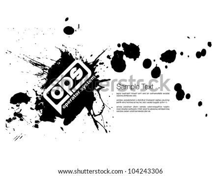Ink splash Design template - stock vector