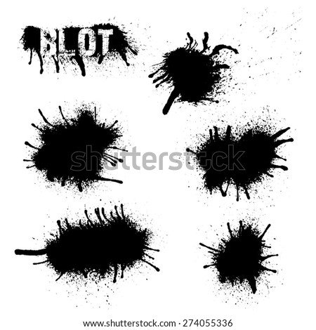 Ink splashes background - Illustration 3 - stock vector