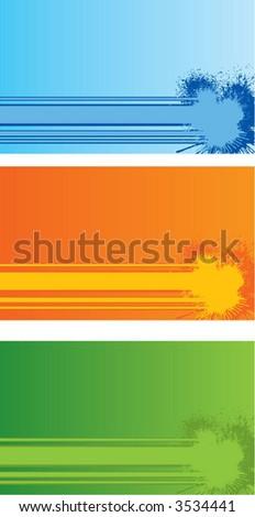 ink splatter backgrounds - stock vector