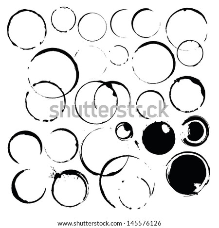 ink stains paint ring - stock vector