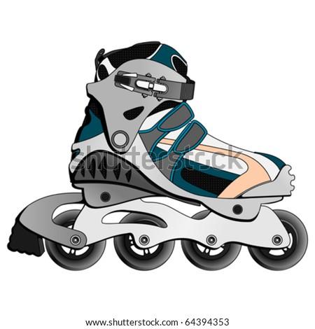 Inline Skate Boot (vector) - stock vector