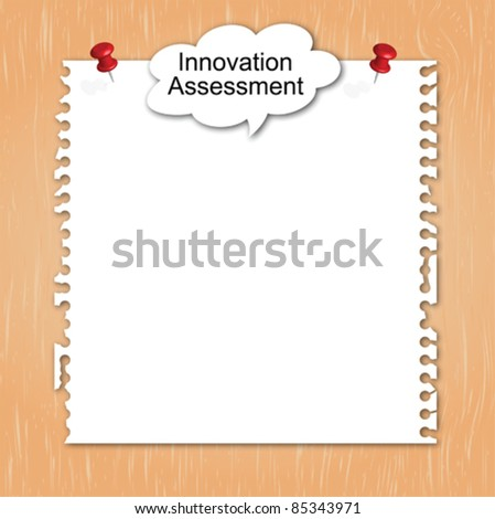 Innovation balloon word concept on paper - stock vector