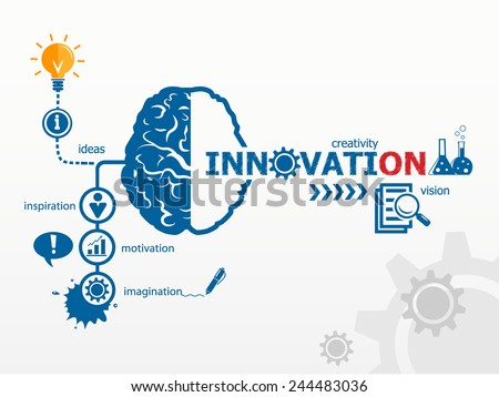Innovation concept. Creative idea abstract infographic  - stock vector
