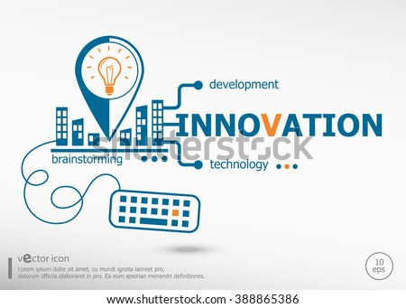 Innovation concept for business. Innovation concepts for web banner and printed materials.  - stock vector