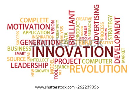 Innovation Tag Cloud, vector - stock vector