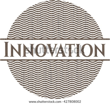 Innovation vintage wood emblem - stock vector