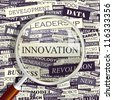 Innovation. Word collage. Vector illustration. - stock photo