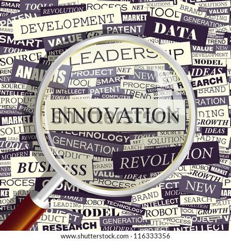 Innovation. Word collage. Vector illustration. - stock vector