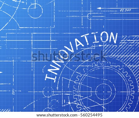 Innovation word on machine blueprint background stock vector innovation word on machine blueprint background stock vector 560254495 shutterstock malvernweather Choice Image