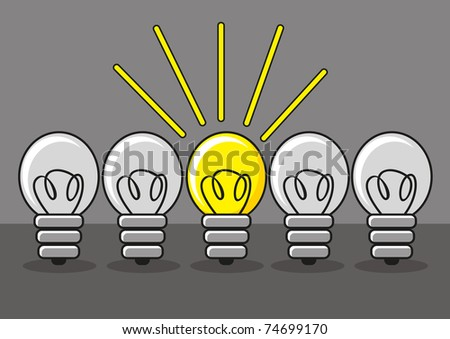 innovative lamp - stock vector