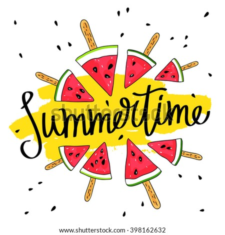 inscription summer surrounded by watermelon slices stock vector rh shutterstock com Enjoy Your Summer Clip Art have a great summer free clip art