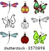 Insect design elements - stock vector