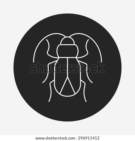 insect line icon