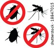 insect poison signs - vector - stock vector