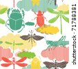 insect seamless pattern - stock vector