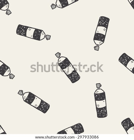 Insecticide doodle seamless pattern background