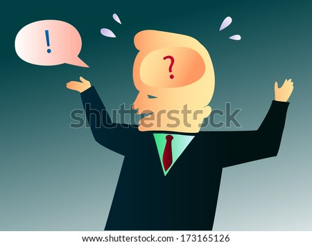 Insecure and Nervous Man Fakes Self-Confidence - stock vector