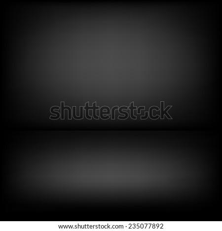 Inside empty dark room with poor lighting - stock vector