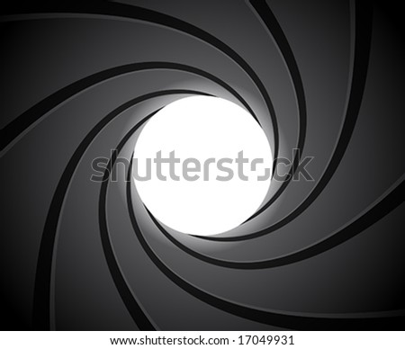 Inside of a gun barrel - stock vector