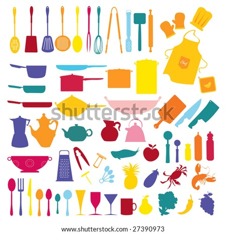 inside the kitchen - stock vector