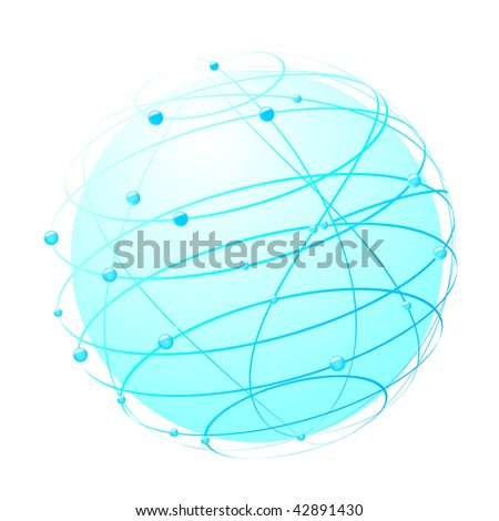 inside the web - world concept. Vector illustration - stock vector