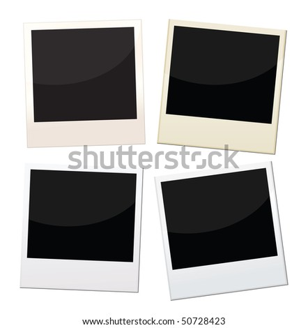 instant photos Photos frames, 4 pieces of photos with different conditions. - stock vector