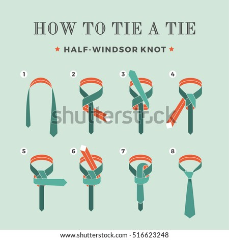 Instructions on how tie tie on stock vector royalty free 516623248 instructions on how to tie a tie on the turquoise background of the eight steps ccuart Choice Image