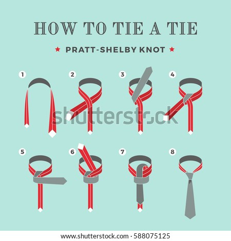 Instructions on how tie tie on stock vector 588075125 shutterstock instructions on how to tie a tie on the turquoise background of the six steps ccuart Gallery