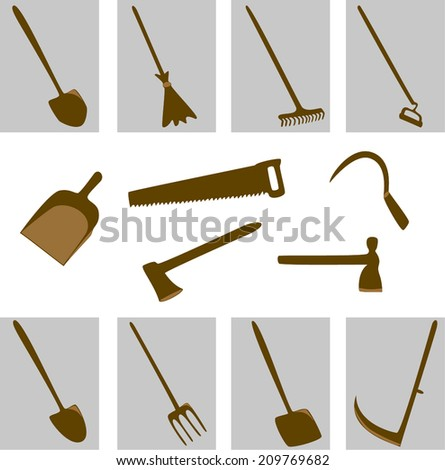 instruments to help in agriculture - stock vector