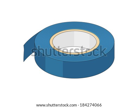 Insulating tape - stock vector