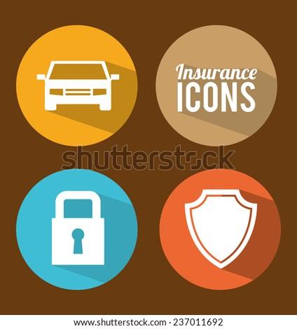 insurance design - stock vector