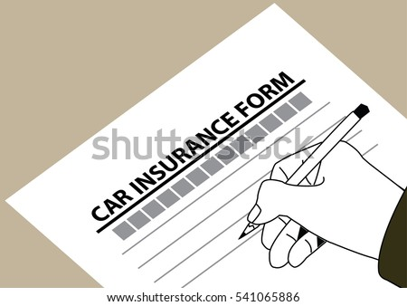 insurance form for car protection. vector illustration