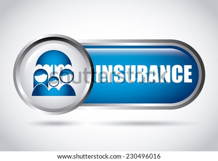 insurance graphic design , vector illustration - stock vector