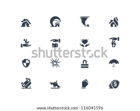 Insurance Icons - stock vector