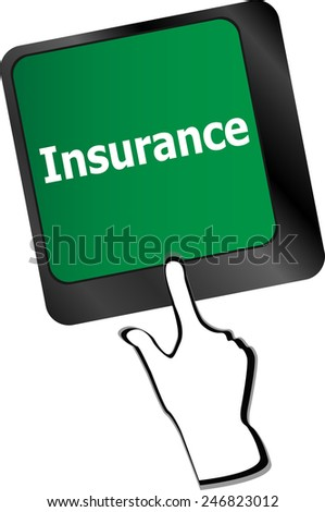 Insurance key in place of enter key - stock vector